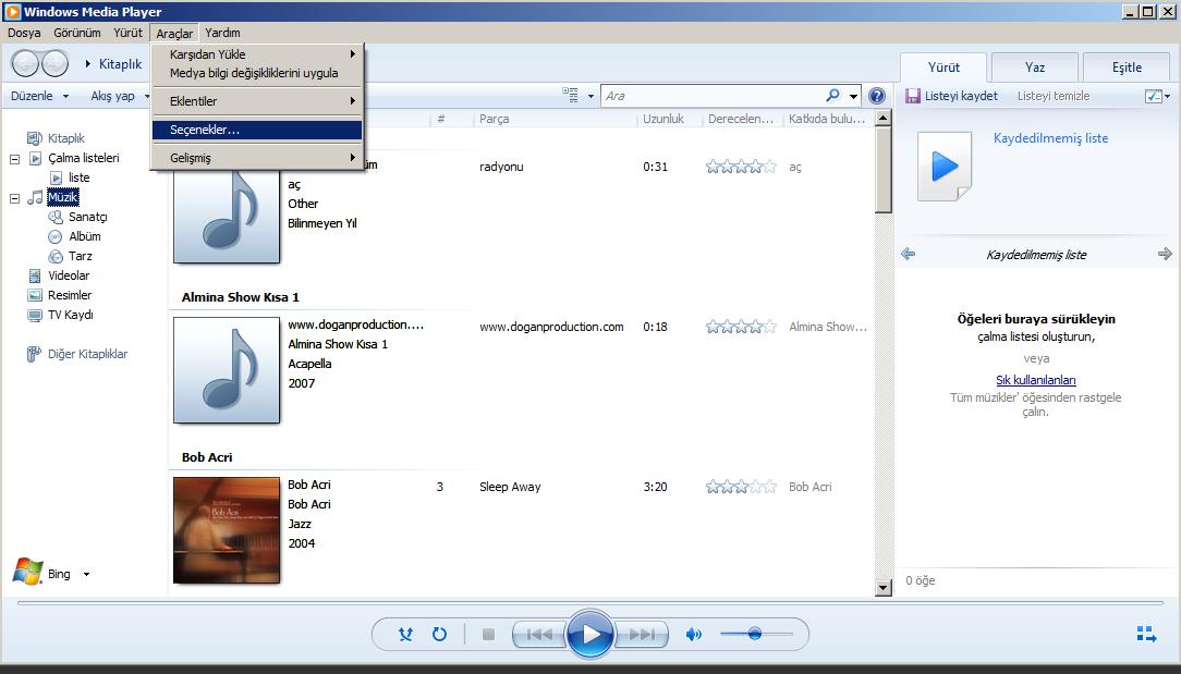 Windows Media Player hatalari 1